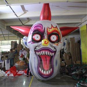 Maßgeschneiderte aufblasbare Teufel Clown-Maske für Halloween decortion Hanging aufblasbar Teufel Clown-Maske für Halloween deco