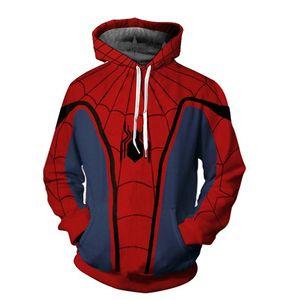 Süper kahraman Avengers Hoodie Kazak Spiderman Kaptan Amerika Deadpool Spiderman Venom Casual Kazak Kapüşonlular Coat Kıyafet