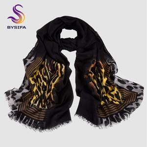 BYSIFA | Outono Inverno Senhoras Cachecóis De Lã Acessórios de Moda Novas Mulheres Estampa de Leopardo Longo Cachecóis 2018 Oversized Cachecóis Wraps
