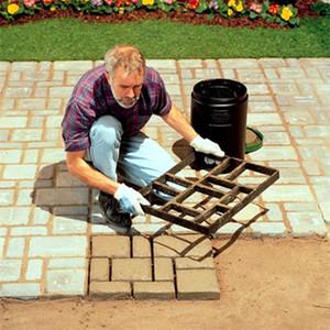 DIY plástico Ruta molde del fabricante de cemento de pavimentación manualmente ladrillo Moldes Jardín camino de piedra de hormigón del pavimento Moldes para el jardín de