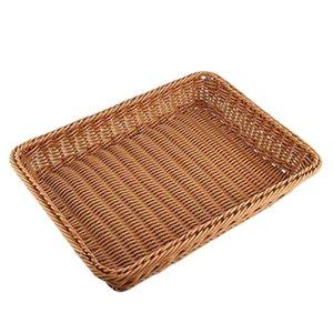 Wicker Basket archiviazione, Bread Basket Bread Shop Supermarket Mostra cesto intrecciato da tavolo frutta verdura Ristorante Servin