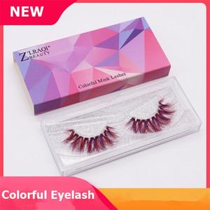 New 9D Mink Cílios Colorido Mink Lashes Extensão Dos Cílios Sexy Dramática Cílios Postiços Olho Falsificado cílios Maquiagem