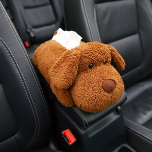 Carro braço Tissue Box Plush Animais Urso Encostos Pillow Ornamento Multi-uso lavável assento Papel Guardanapo Voltar Titular Interior dezembro