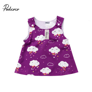 Pudcoco New Infant Newborn Baby Girls Clothes Summer Cotton Sleeveless Outfits Sunsuit 0-18months Pudcoco