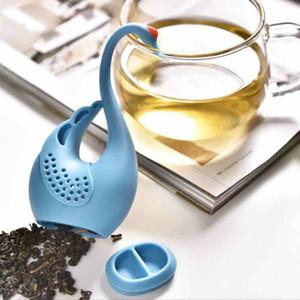 En Yeni Nolvety Hediye Swan Kaşık Çay Süzgeç demlik Çay kaşığı Filtre Yaratıcı Plastik Çay Araçları Mutfak Aksesuarları