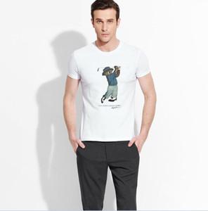 2018 Fashion high quality print men's short sleeve T-shirt, comfortable simple style men's top, 3XL size