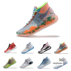 Kevin Durant XII KD 12 EYBL Anniversary Sports Basketball Shoes Quality Mens USA Elite KD12 Designer Brand Sneakers 7-12