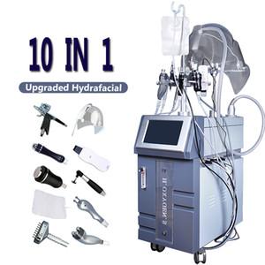 1 Hydra dermabrazyon Cihaz Oksijen Yeni varış 10 Led Hydra Yüz Makinesi Ultrasonik RF BIO Sıkma Yüz Germe Skin Maske Spray