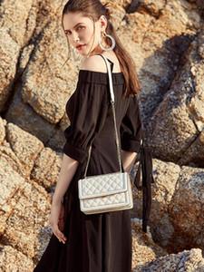 2020 Çanta Bayan Yeni Moda Ekose Woemn Lüks Tasarımcı Crossbody Çanta Kadınlar Zincir Omuz için Gerçek Deri Çanta