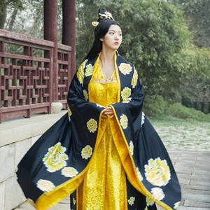 여성 고대 의류 스튜디오 사진 테마 의상 황후 공주 당나라 수행 긴 드레스 소주 자수