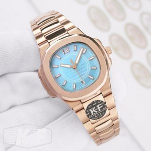 Rosa Moda Donna Oro signore di lusso Designer Bracciali Movimento al quarzo NAUTILUS AQUANAUT 5167 Kf Orologi Orologi da polso
