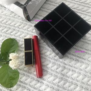 10x10x5cm Mode 9 Gitter CCCC Acryl Aufbewahrungslippenstifte Halter Make-up Pinsel Aufbewahrungskoffer Rouge Organizer Geschenkbox Sammlung VIP Bin
