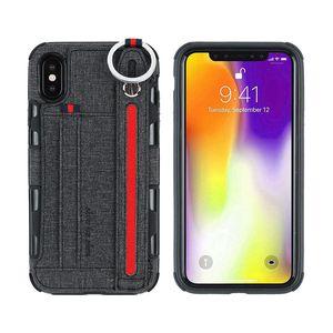soporte del caso de la correa de muñeca diosa de cuero de lujo para el iphone X XS XR 6 7 8plus cajas del teléfono para Samsung S10 P30 Huawei