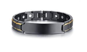 Vnox Kostenlose Gravur Typ-2-Diabetes Krankheit Medical Alert Id Armbänder für Männer Frauen Gesundheits-Therapie-magnetisches Armband Schmuck Y19051101