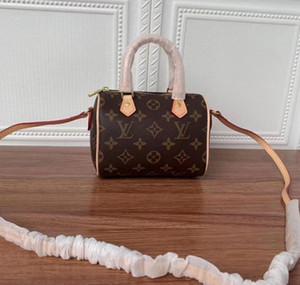 Top SPEEDY bandoulière NANO 16 centimetri Designer Womens Tote maniglia superiore spalla Cross Body Bag Canvas Handbag Mini Pochette Accessoires