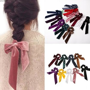 Print Ponytail Scarf Bow Elastic Hair Boho Rope Tie Scrunchies Ribbon Hair Bands for baby girl Outlet
