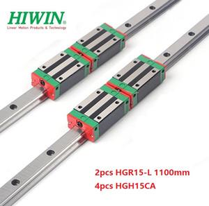 2pcs Nuovo originale HIWIN HGR15 - 1.100 millimetri lineare guida / guida + 4pcs HGH15CA lineare blocchi strette per cnc router parti
