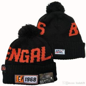 2020 Cappello di lana Cincinnati Beanie Sideline Script ammanettato con Pom Donne Uomini Sport Cappello di lana tutte Team Inverno a maglia di lana Calotta 1000 05