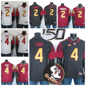 2019 NCAA Florida State Seminoles Formalar 2 Deion Sanders Jersey 4 Dalvin'ın Cook FSU Koleji Futbol Jersey Siyah Kırmızı Beyaz Dikişli 150.