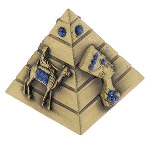 Decoración del metal egipcia Edificio recuerdo pirámide pirámides Viajar estatuas de época adornos de Escritorio Modelo Aeclk