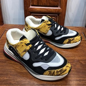 Ultrapace Sneaker с Светоотражающие Mens ткани Роскошная обувь Мода Щепка Metallic кожа Женская повседневная обувь замша Mesh Кроссовки