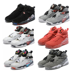 Nuevo 8 Blanco Aqua 8s zapatillas de basquetbol COOL GREY Tinker Raid Playoffs Drake White Stealth With Box Men sports shoes Envío gratis