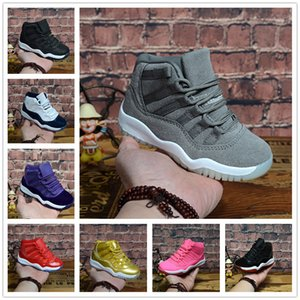 Children 11 Prom Night Gym Red Midnight Navy Black Stingray Bred Concord Space Jam Shoes Boys girls 11s Kids Basketball Sneaker shoe