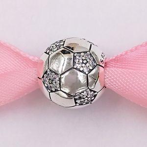 Autentico Argento 925 perline scintillanti di calcio incanta il fascino della sfera Adatto monili dei braccialetti europeo di stile Pandora Collana 798795C01