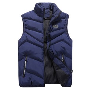 Plus New Men Parka Casual Autumn Vest Slim Collar Coat Size Mens Warmer Waist Winter Stand Solid Sleeveless Jacket Body Brand Eiflg
