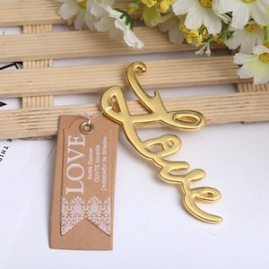 NEW ARRIVAL+Best Quality Chrome Love Bottle Opener Wedding&Bridal Shower Favors and Gift For Guest Silver Gold Color LX0268