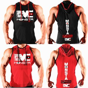 2019 Summer New Men Cotton Hoodie Sweatshirts Fitness Clothes Bodybuilding Tank tops Men Sleeveless top Casual Muscle Male vest MX200518