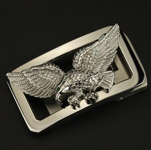 Men's Stainless Steel Flying Eagle Auto Buckle For 3.3-3.5cm Waist Belt Leather Belt Buckle Waist Band Buckle