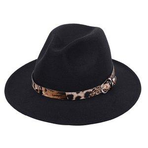 Özel Kemer Kadınlar Vintage fötr ile Şapka Erkekler Fedora Şapkalar Yün Fedora Caz Hat Chapeau Femme feutre Isınma Caps Keçe