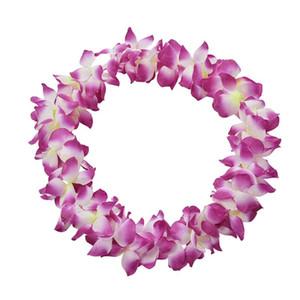 Do partido do evento flor artificial Colar Havaí Praia grinaldas Suprimentos Cheerleading lembranças Wedding Party Detalhes