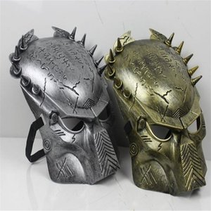 Alien vs predator Guerrier AVP Cosplay Visage Costume de déguisement Masque d'or ou d'argent