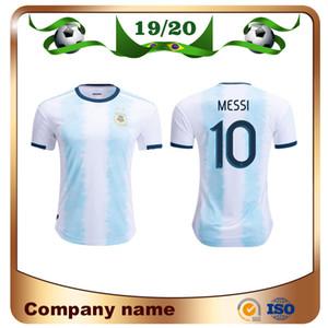 2019 Copa América Argentina Camiseta de fútbol 19/20 Argentina Camiseta de fútbol local # 10 MESSI # 9 AGUERO # 11 DI MARIA Uniforme de fútbol Ventas