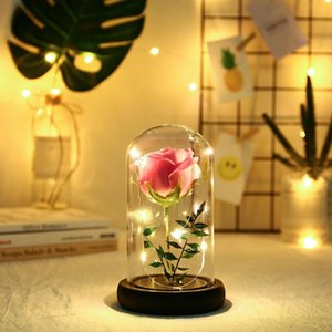 New Artificial Flowers Rose Simulation Flower LED String Light Home Night Light Decoration Valentine's Day Birthday Gift