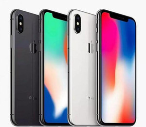 Unlocked Remis à neuf d'origine pour iPhone X Aucun visage ID Hexa Cœur 64GB 256Go 5.8inch Cher caméra arrière 12.0mp rénové téléphone mobile