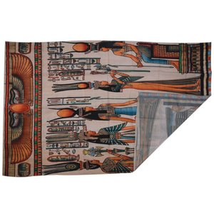 New-Egyptian Decor Collection, Egyptian Papyrus Depicting Queen Nefertari Making an Offering to Isis Picture Wall Hanging Tape