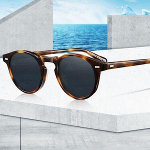 Vintage OV5186 Polarize ulculos Güneş Gözlüğü Sunglass Gafas Marka Gregory Peck Erkek Kadın Çerçeve Retro Temizle Lense ITMBN