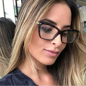 Top seller 2020 Online Fashion Square Glasses Frame Women Trendy Style Brand Optical Computer Glasses Sweet07 Hot