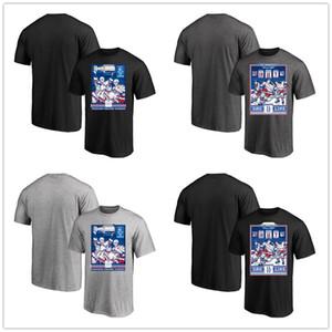 Nueva York Rangers exclusivos carteles caricatura camiseta para hombre ventiladores Negro Gris Tops camisetas Camiseta de algodón de manga corta cuello impresos