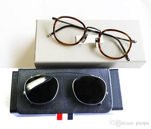 Nueva York Ronda de lectura marcos de las lentes o gafas de sol mujeres de los hombres de titanio óptico de lentes de prescripción TB710 vidrio de sol con clip con la caja
