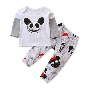 Halloween Infant Baby Boys Clothes Set Kids Long Sleeve Cartoon Tops Tshirt + Pants Children Boy Outfits Set 15171