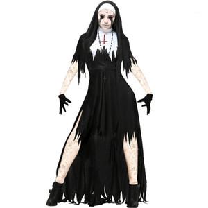 Manga stand vestidos de manga fêmeas Tema Costume Nun Halloween Designer Cosplay Festival Estilo da forma das mulheres Shorts