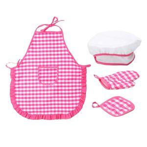 Smart Cookie Chefs Apron Set - 4 Pieces Kids Chef Hat & Apron with Accessories - Pretend Play Kitchen Set