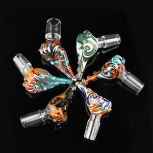 Beliebte Perücke Wag Glasschale 14 mm 18 mm Male Joint mit bunten berauschenden Glasschalen Rauchen Zubehör für Glas Bongs Dab Rigs