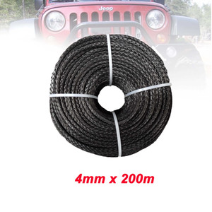 4mm x 200M UHMWPE Synthetic Rope Guincho, Cabo, Line, 4WD Boat Recuperação Offroad