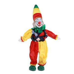Mini Doll Standing Porcelain Doll Con il costume da clown figura giocare come decorazione di Halloween da collezione