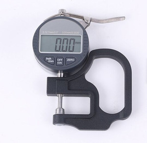New Digital 0.01-12.7mm Range Thickness Gage Gauge With LCD Display Electronic Measurement Instrument For Paper Film Cloth Tape